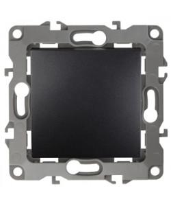 12-1001-05 ЭРА Выключатель, 10АХ-250В, IP20, без м.лапок, Эра12, антрацит (10/100/2500)