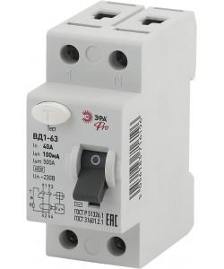 ЭРА Pro Устройство защитного отключения NO-902-38 УЗО ВД1-63 1P+N 40А 100мА (90/1620)