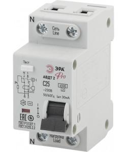ЭРА Pro Автоматический выключатель дифференциального тока NO-901-88 АВДТ2 C25А  30мА 1P+N тип AC (90