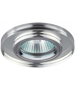 DK7 CH/WH Светильник ЭРА декор стекло круглое хром/зеркальный (50/2100)