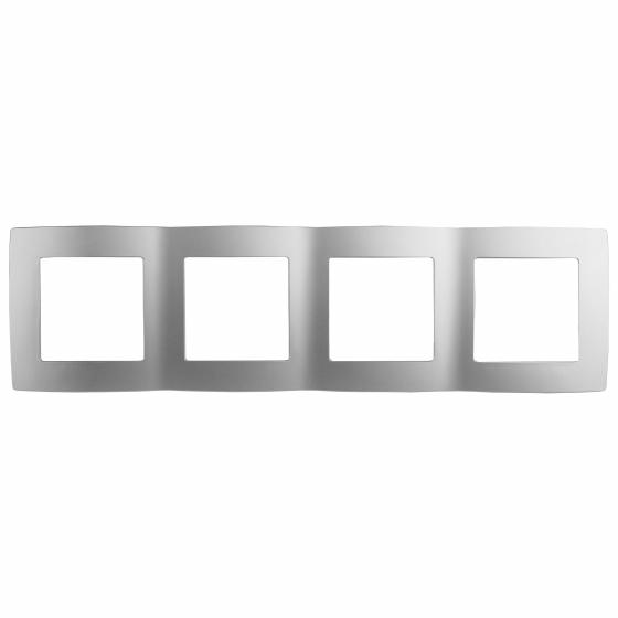 12-5004-03 ЭРА Рамка на 4 поста, Эра12, алюминий (10/100/1600)