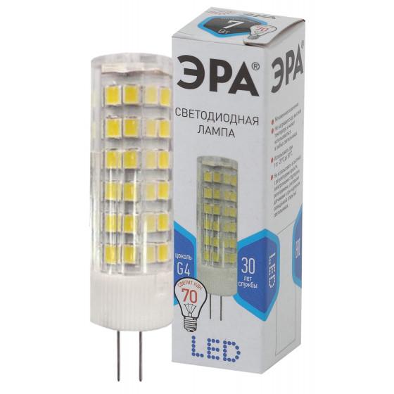 Лампочка светодиодная ЭРА STD LED JC-7W-220V-CER-840-G4 G4 7Вт керамика капсула нейтральный белый свет