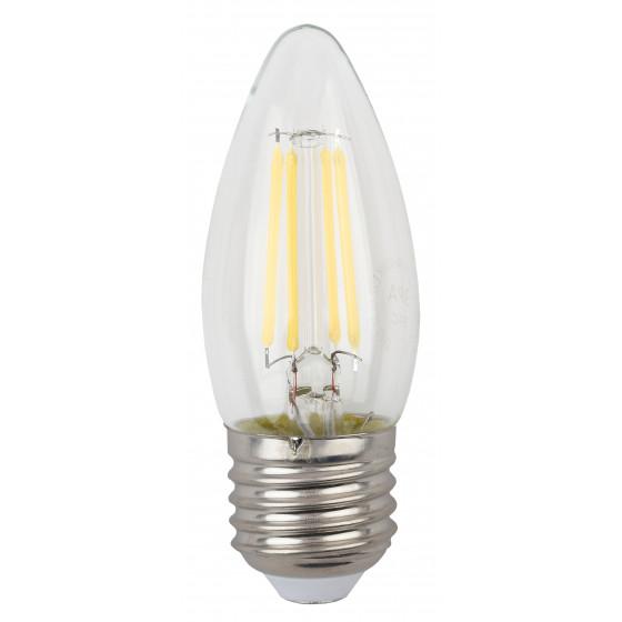 F-LED B35-5W-827-E27 ЭРА (филамент, свеча, 5Вт, тепл, E27) (10/100/2800)