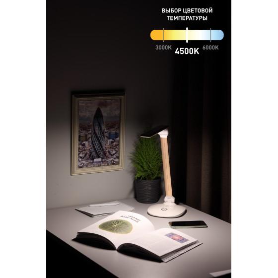 ЭРА наст.светильник NLED-456-10W-W-G белый с золотом (12/144)