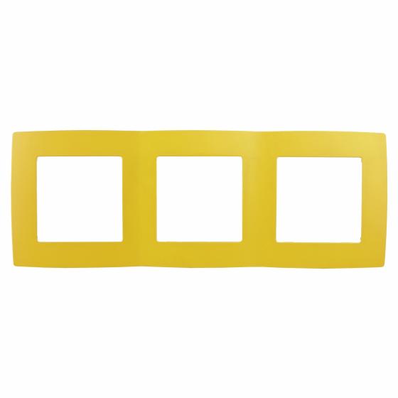 12-5003-21 ЭРА Рамка на 3 поста, Эра12, жёлтый (15/150/2400)