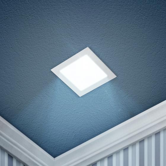 LED 2-6-6K Светильник ЭРА светодиодный квадратный LED 6W  220V 6500K (40/960)