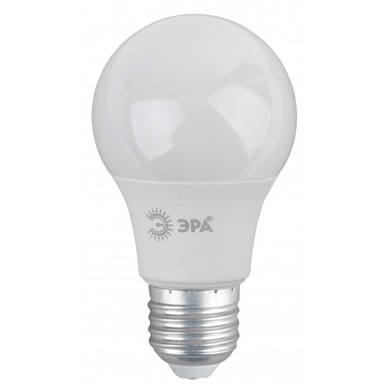 ECO LED A60-6W-827-E27 ЭРА (диод, груша, 6Вт, тепл, E27), (10/100/1200)