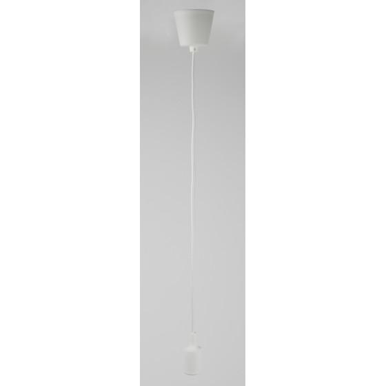 ЭРА Патрон пластиковый Е27 с подвесом, белый (60/720)