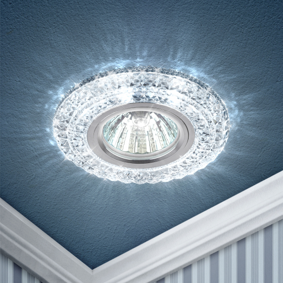 DK LD3 SL/WH Светильник ЭРА декор c белой светодиодной подсветкой, прозрачный (50/1400)