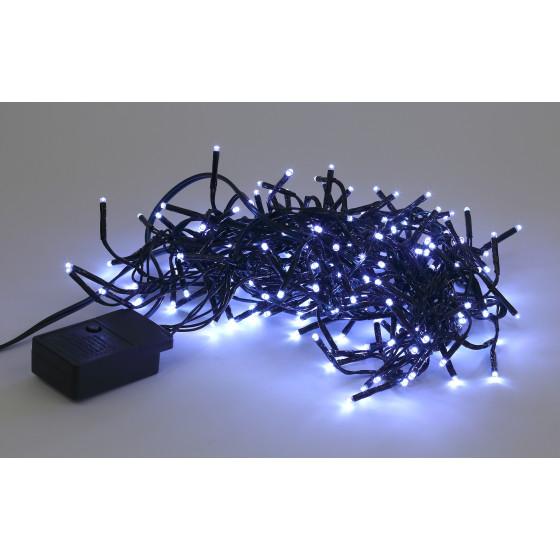 ENIN - GC ЭРА Гирлянда LED Нить Мишура 3,9 м зеленый провод, холодный свет,  220V (24/576)
