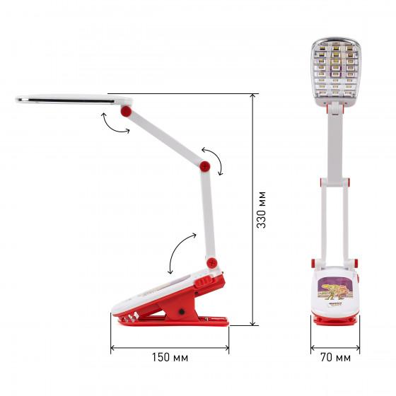 ЭРА наст.светильник NLED-424-2.5W-R красный ФИКСИКИ (6/48/432)