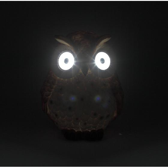 ERAFYS01-10 ЭРА Садовый светильник Сова рыжая на солнечной батарее, полистоун, 19 см (8/96)