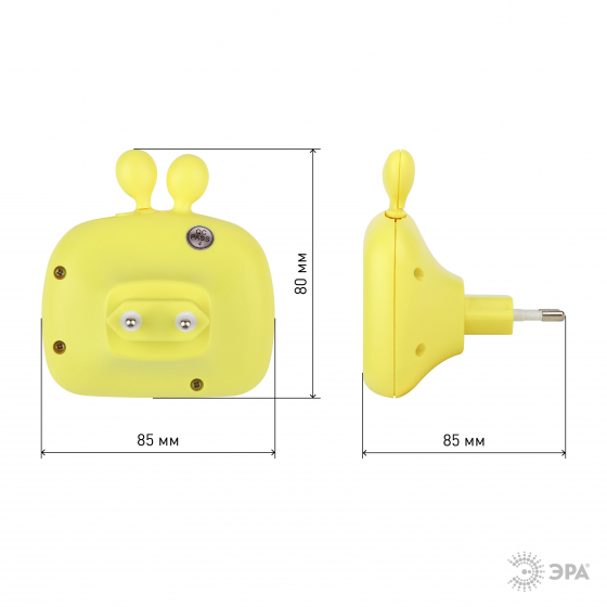 ЭРА ночник NN-613-SW-Y желтый ФИКСИКИ (6/72/432)