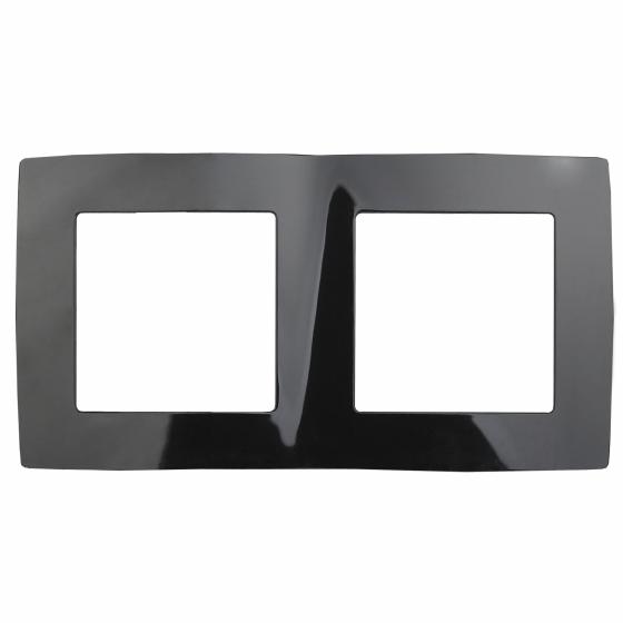 12-5002-06 ЭРА Рамка на 2 поста, Эра12, чёрный (10/100/3000)