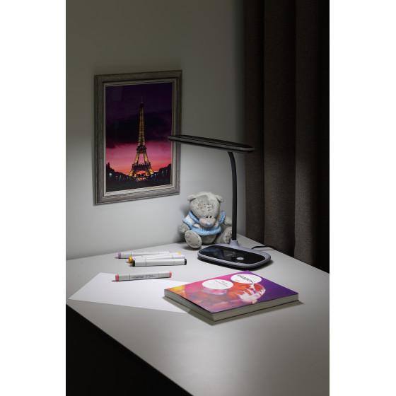 ЭРА наст.светильник NLED-458-6W-BK черный (16/96)