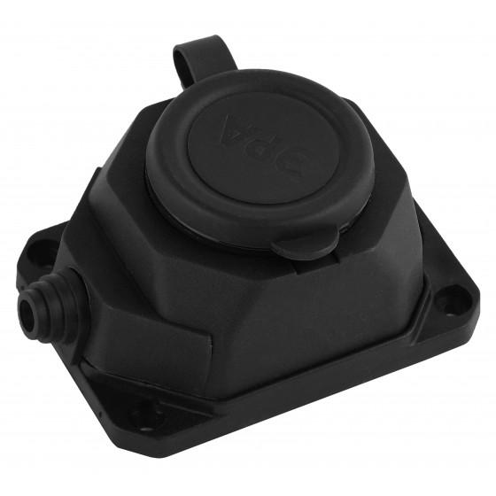 K-1e-B-IP44 ЭРА Колодка каучуковая с/з 1гн 16A IP44 черная (24/240/1440)