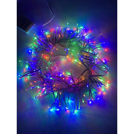 ENIN - WM ЭРА Гирлянда LED Мишура 3.9 м белый провод, мультиколор,  220V (24/576)