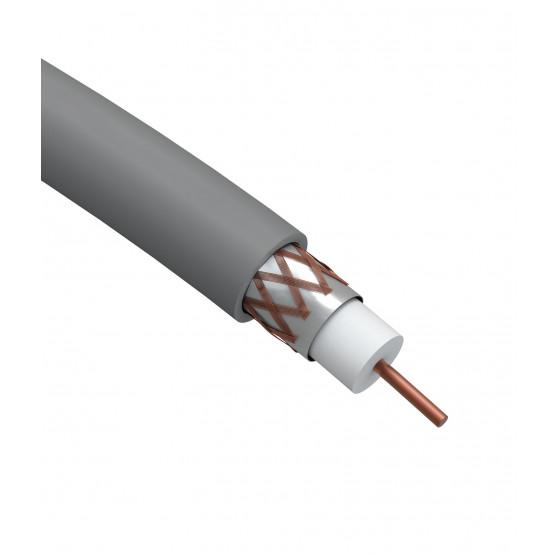 ЭРА Кабель коаксиальный RG-6U, 75 Ом, Cu/(оплётка Cu 64%), нг(А)HF, цвет серый, бухта 100 м (4/80)