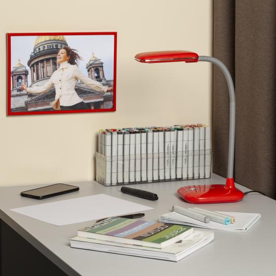 ЭРА наст.светильник NLED-450-5W-R красный (12/72)