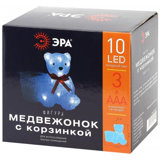 ENIOF - 12 ЭРА Фигура LED Медвежонок с корзинкой, 3АА (12/48)