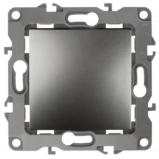 12-1108-12 ЭРА Переключатель промежуточный, 10АХ-250В, IP20, Эра12, графит (10/100/2500)