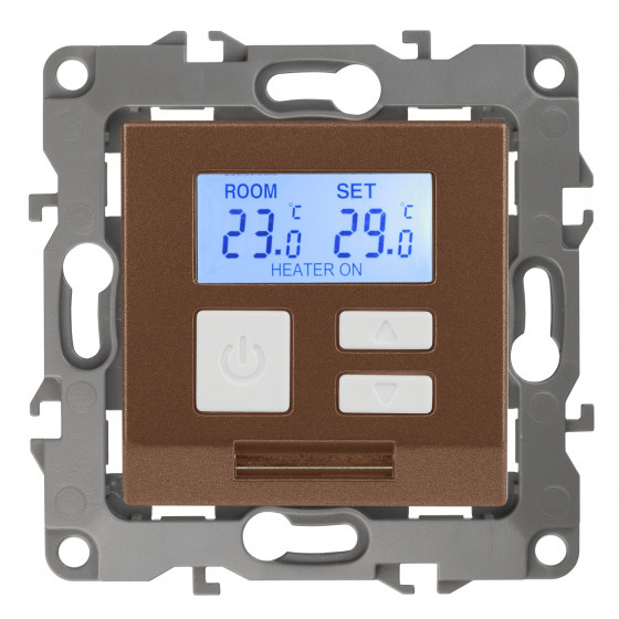 12-4111-14 ЭРА Терморегулятор универс. 230В-Imax16А, IP20, Эра12, медь (6/60/720)