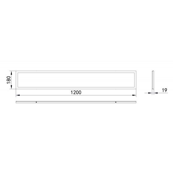 Светильник светодиодный ЭРА SPO-7-40-6K-P (4) 40Вт 6500К 2800Лм IP40 1200x180x19 призма