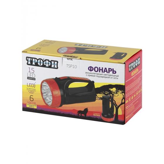 TSP10 Фонарь Трофи Акку 4V1.5Ah,15хLED,2 режима,карт (10/40/320)