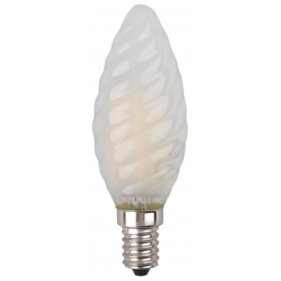 F-LED BTW-5W-827-E14 frost ЭРА (филамент, свеча витая мат., 5Вт, тепл, E14) (10/100/2800)