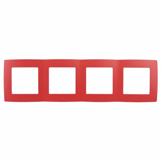 12-5004-23 ЭРА Рамка на 4 поста, Эра12, красный (10/100/2000)