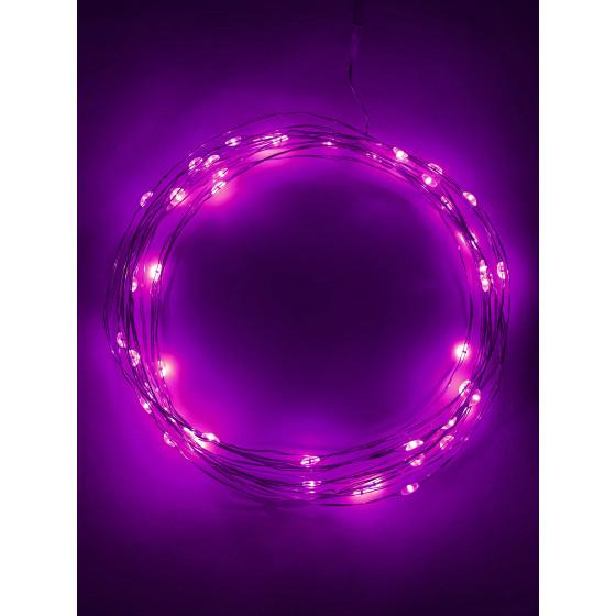 ENIN -5NP ЭРА Гирлянда LED Нить 5 м сиреневый свет, АА (100/2500)