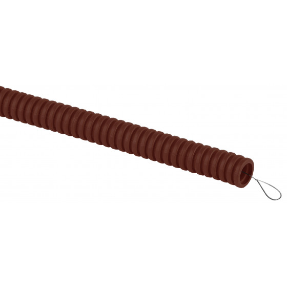 ЭРА Труба гофрированная ПВХ (дуб) d 25мм с зонд. легкая 25м (30)
