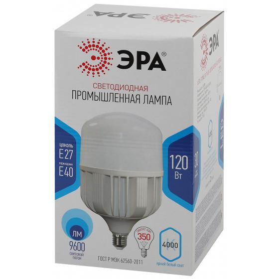 Лампочка светодиодная ЭРА STD LED POWER T160-120W-4000-E27/E40 Е27 / Е40 колокол нейтральный белый свет