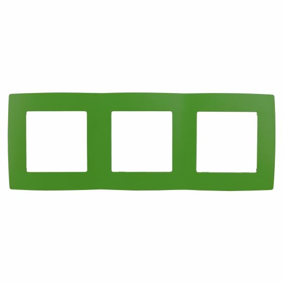12-5003-27 ЭРА Рамка на 3 поста, Эра12, зелёный (15/150/2400)
