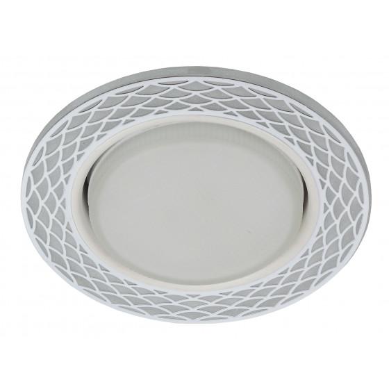 DK LD37 WH/WH Светильник ЭРА декор cо светодиодной подсветкой GX53, белый/белый (30/720)