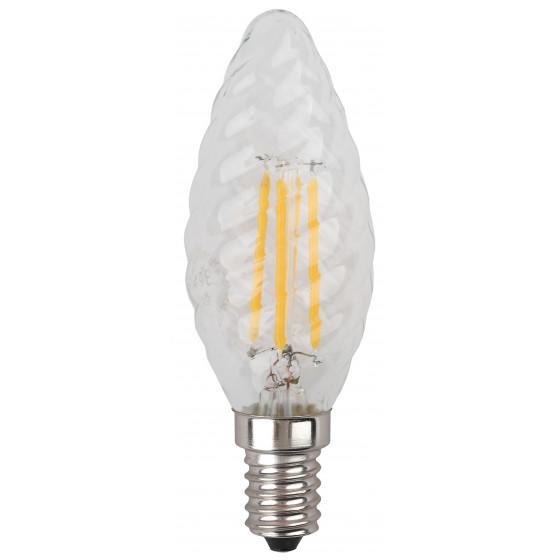 F-LED BTW-5W-827-E14 ЭРА (филамент, свеча витая, 5Вт, тепл, E14) (10/100/2800)