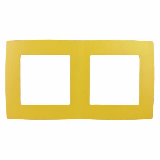 12-5002-21 ЭРА Рамка на 2 поста, Эра12, жёлтый (10/100/3600)