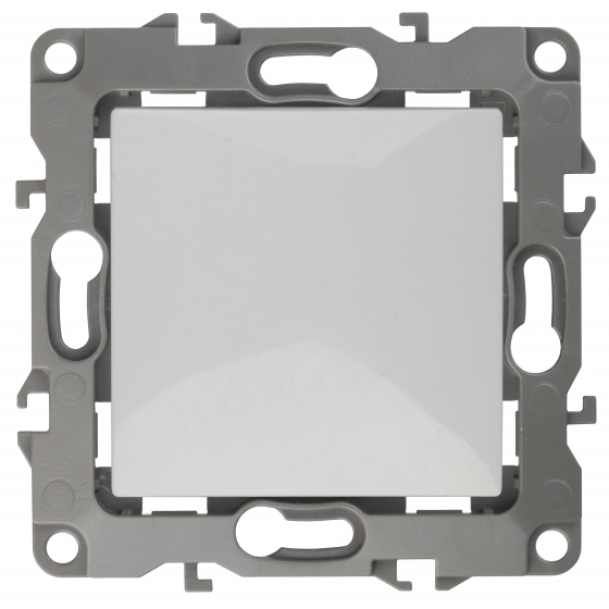 12-1108-01 ЭРА Переключатель промежуточный, 10АХ-250В, IP20, Эра12, белый (10/100/2500)