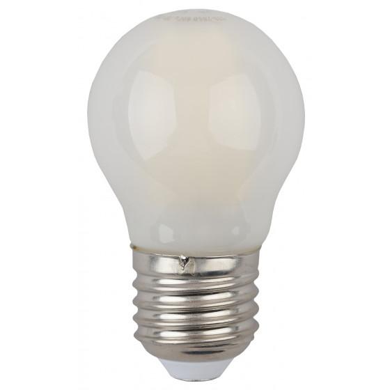 F-LED P45-7W-840-E27 frost ЭРА (филамент, шар мат., 7Вт, нейтр, E27) (10/100/3000)