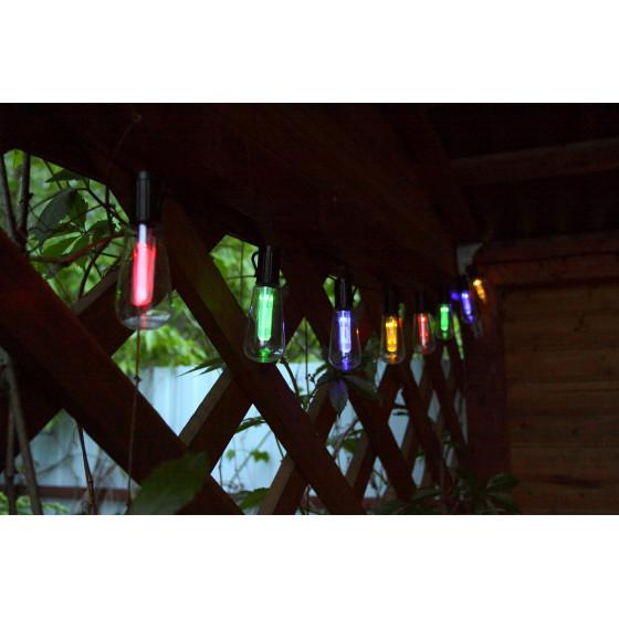 ERAGS012-04 ЭРА Садовая гирлянда 10 подсвечиваемых  светодиодами лампочек.Общая длина от солнечной п
