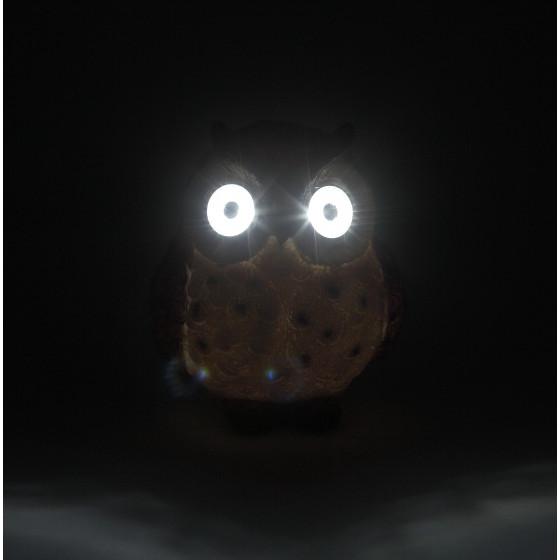 ERAFYS01-12 ЭРА Садовый светильник Сова коричневая на солнечной батарее, полистоун, 13 см (36/288)