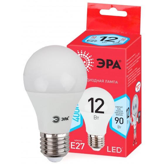 ECO LED A60-12W-840-E27 ЭРА (диод, груша, 12Вт, нейтр, E27) (10/100/2000)