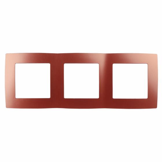 12-5003-24 ЭРА Рамка на 3 поста, Эра12, охра (15/150/2400)