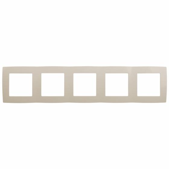 12-5005-02 ЭРА Рамка на 5 постов, Эра12, слоновая кость (10/100/1600)