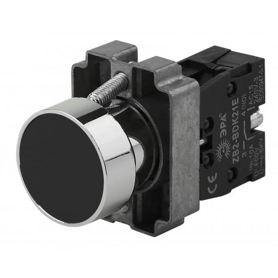 ЭРА Кнопка управления LAY5-BA21 без подсветки черная 1з (20/200/8000)