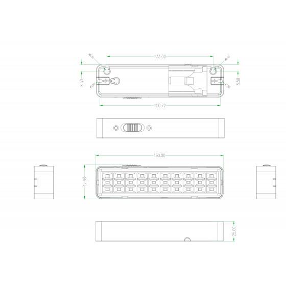 DBA-101-0-20 ЭРА Светильник светодиодный аварийный непостоянный 30LED 5ч IP20 (40/3360)