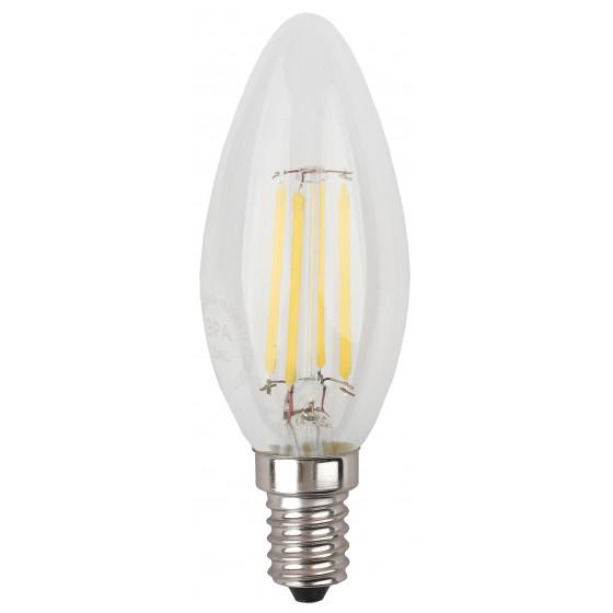 F-LED B35-7W-840-E14 ЭРА (филамент, свеча, 7Вт, нейтр, E14) (10/100/4000)