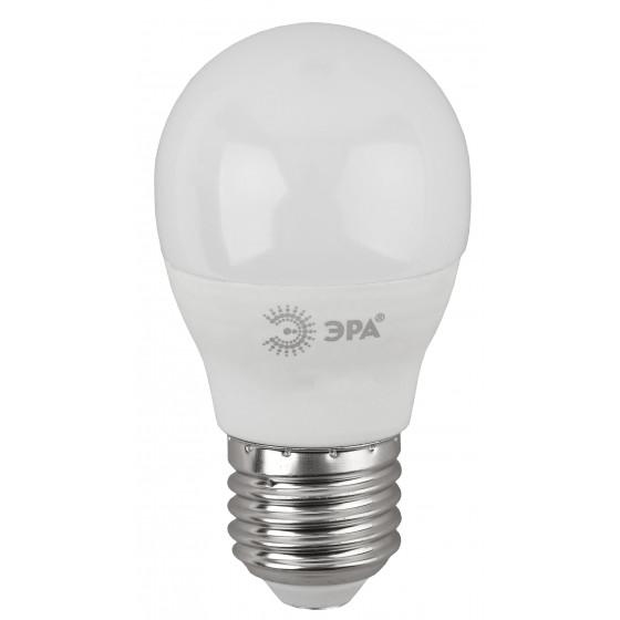 LED P45-7W-860-E27 ЭРА (диод, шар, 7Вт, хол, E27) (10/100/3000)