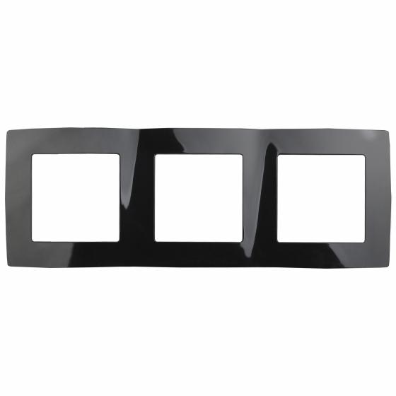12-5003-06 ЭРА Рамка на 3 поста, Эра12, чёрный (15/150/2400)