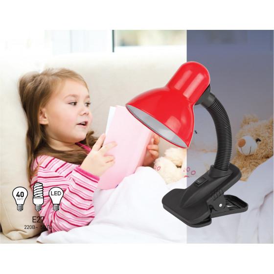 ЭРА наст.светильник N-102-E27-40W-R красный (30/240)